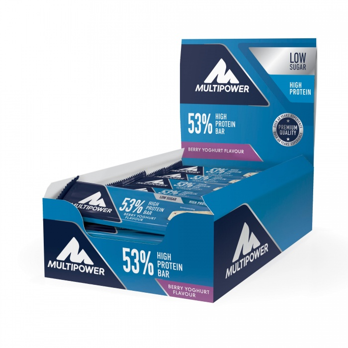 MULTIPOWER 53% PROTEIN BAR proteinová tyčinka box 24 ks