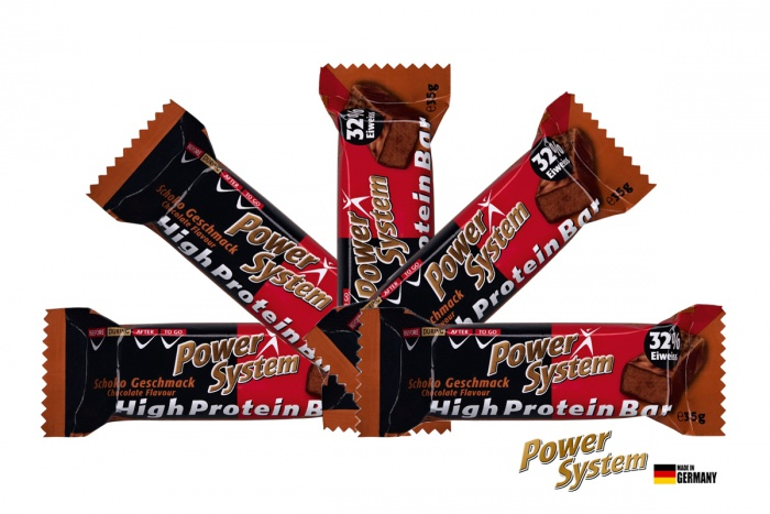 POWER SYSTEM 32%HIGH PROTEIN BAR 5 x 35g ČOKOLÁDA